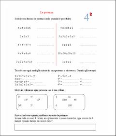 didattica matematica scuola primaria: Le potenze - classe ...