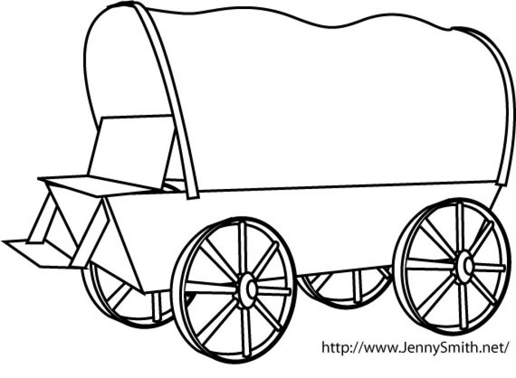 Covered Wagon Coloring Page Page 1 Throughout Covered Wagon