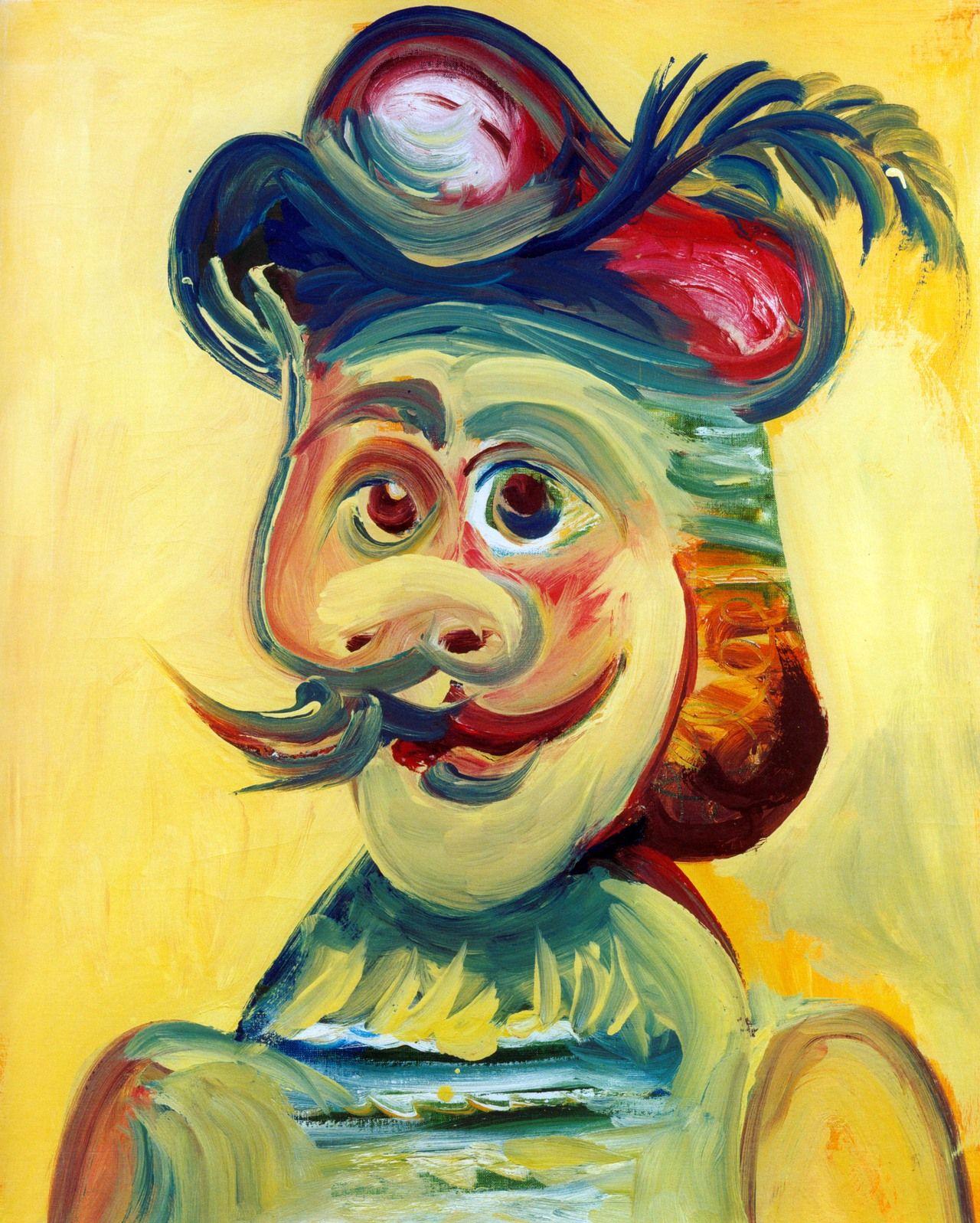 Homme à la Moustache Pablo Picasso, 1971