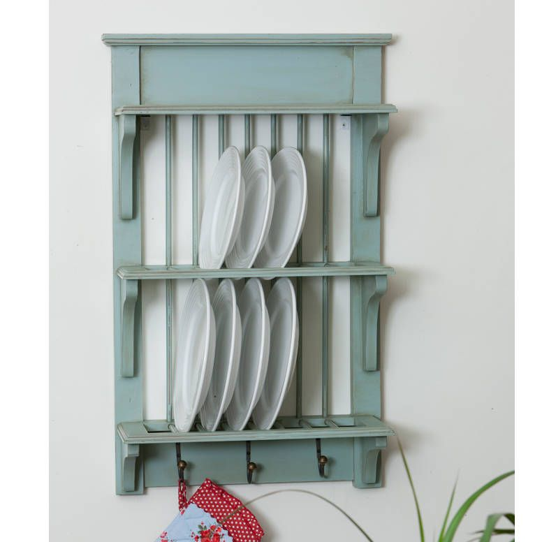 Wooden Painted Plate Rack Wall Unit  sc 1 st  Pinterest & Painted Plate Rack Wall Unit
