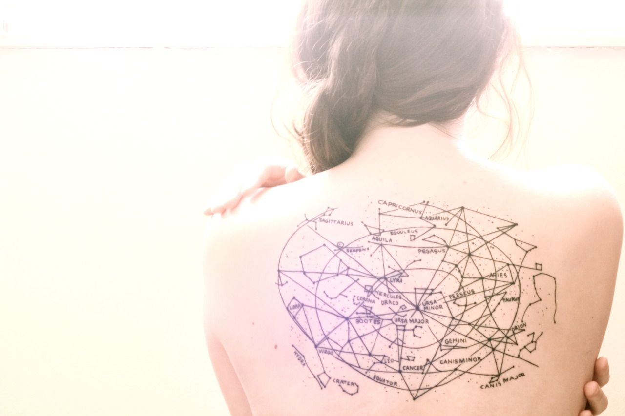Zodiac Constellation Star Map Art Constellation Tattoos