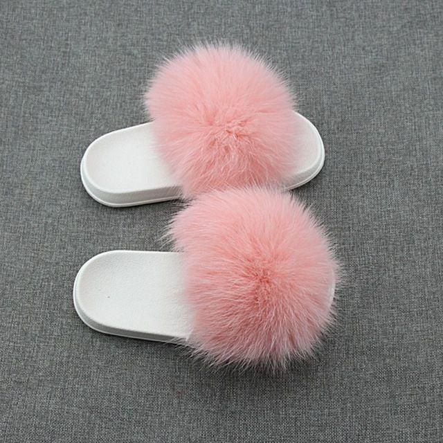 bd4729dfe89 Source Wholesale ladies slide sandals soft fox fur slippers for women on  m.alibaba.com