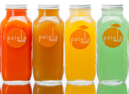 PALETA- simple labels and logo. Nothin special yet I feel drawn to it. A negative is that the ingredients of each juice is not listed on the front. Maybe to get around this we could do the back or the top?