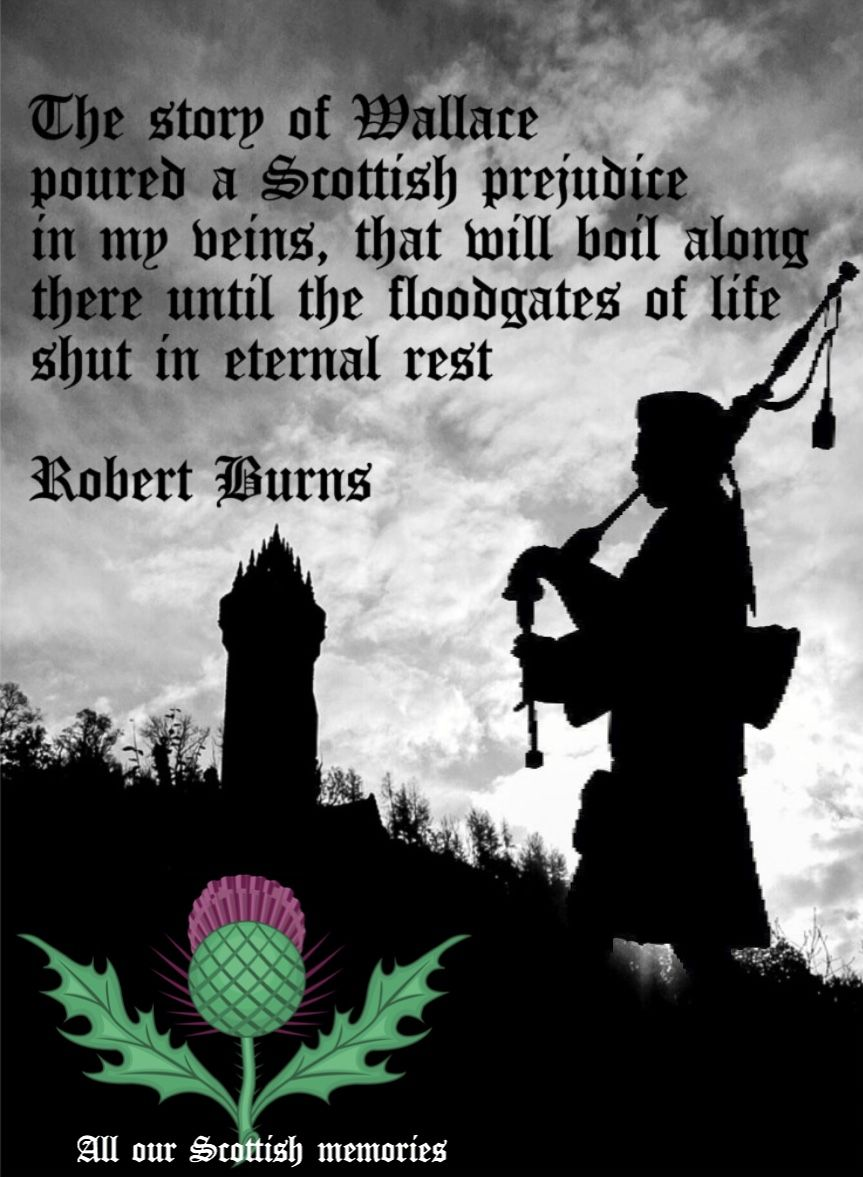 SCOTLAND FLAG ROBERT BURNS RABBIE POSTER PRINT HIGHLANDS POEM QUOTE PRIDE