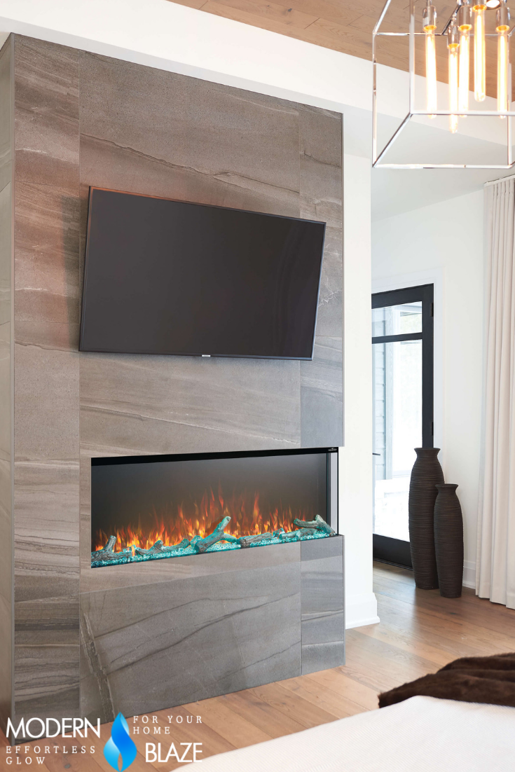 Napoleon Trivista 3 Sided Built In Electric Fireplace 50 Or 60 Wide Built In Electric Fireplace Electric Fireplace Modern Electric Fireplace