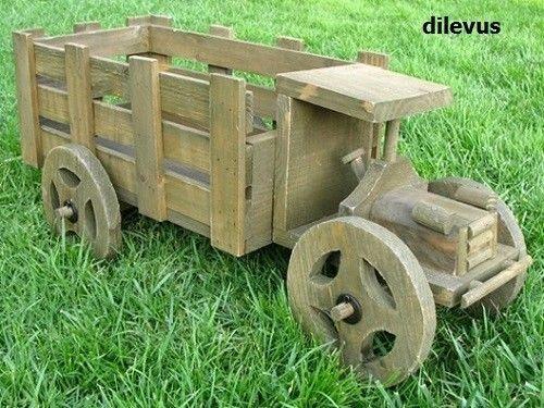 Planter, Garden Cart, Patio Furniture, Cedar Rectangular Truck Planter