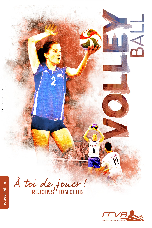affiche rentr u00e9e des clubs volleyball ffvb