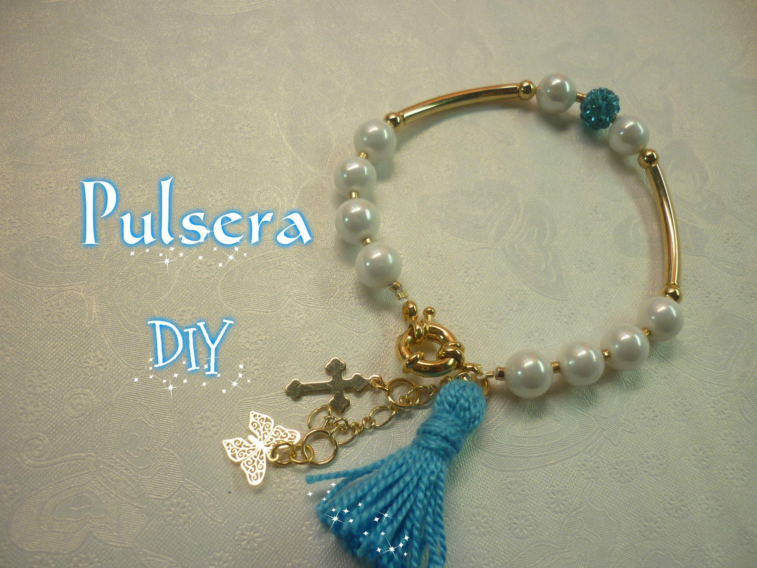 6ce71a161824 Manualidades  BISUTERIA Pulsera DIY - JEWELLERY Bracelet DIY ...