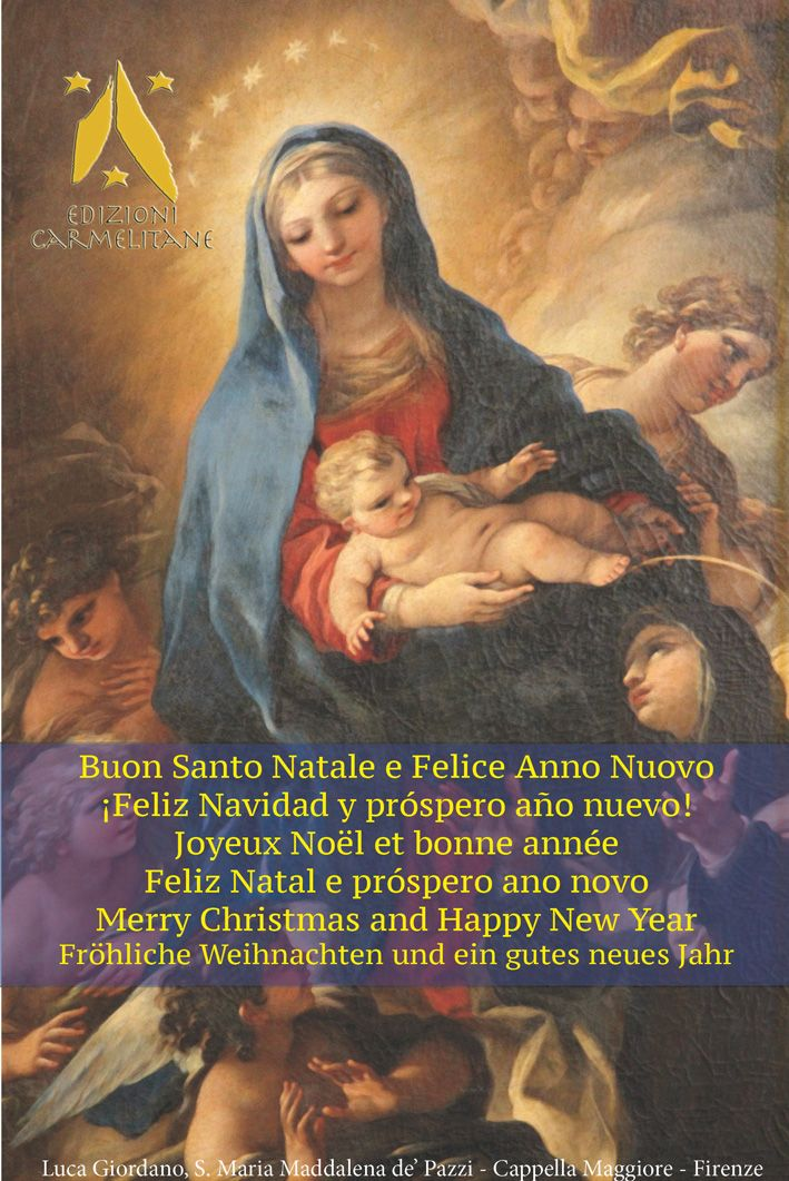Buon Santo Natale.Edizioni Carmelitane Buon Santo Natale E Felice Anno Nuovo