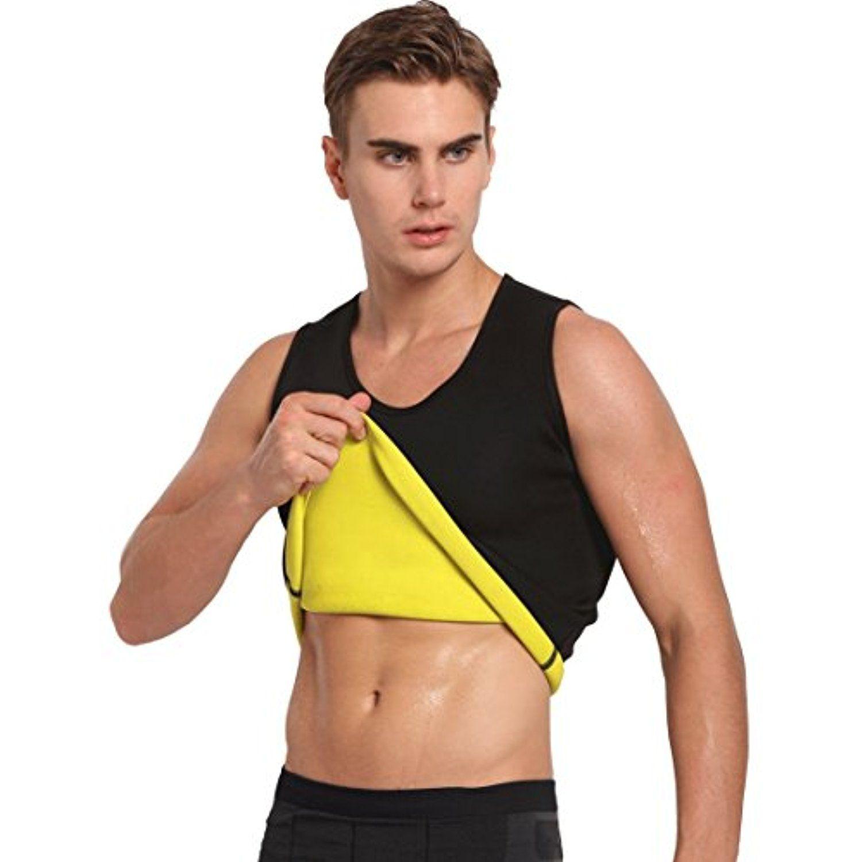 3f9e9715e6921 Hot Sweat Vest Neoprene Sauna Vest Pants For Weight Loss Tummy Fat Burner  Slimming Shapewear Hot Thermo Body Shaper Sweat Tank Top Capris Black No  Zip ...