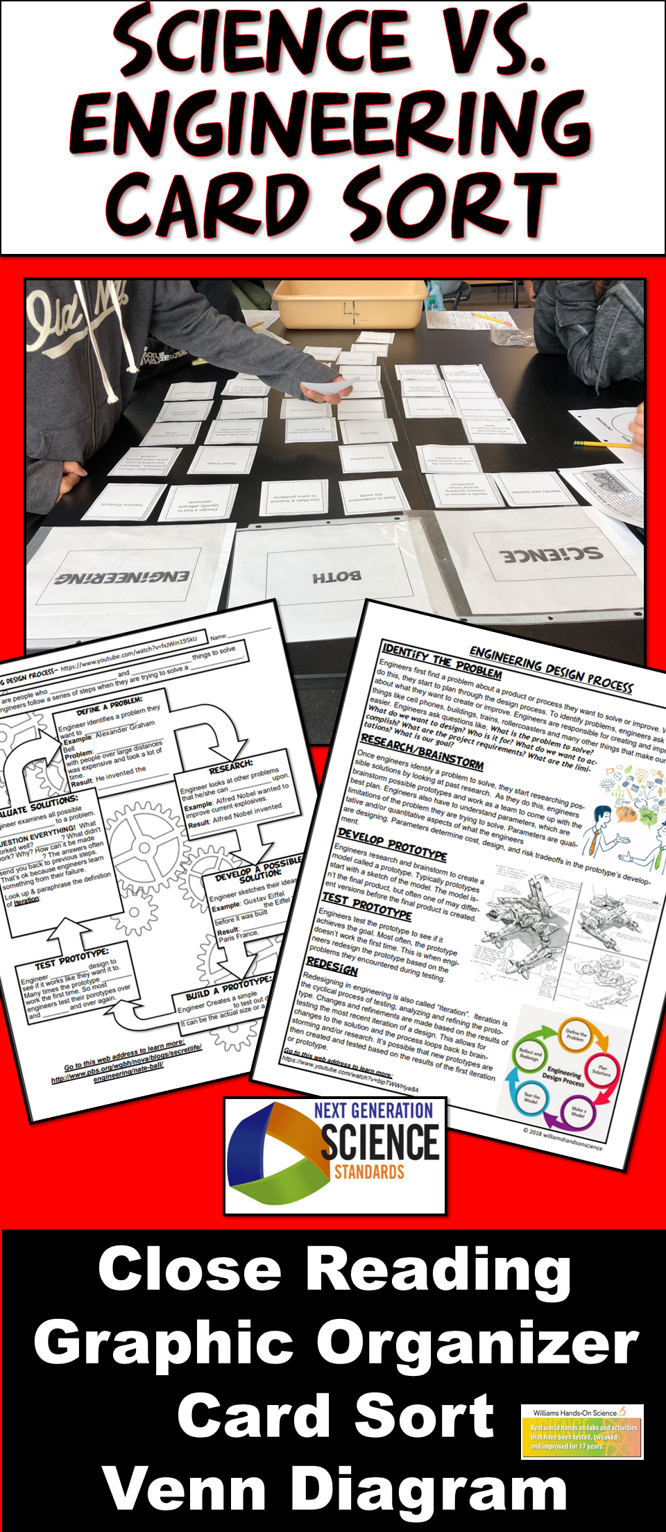 This card sort is  perfect scaffold or front load for stem project also ngss science vs engineering close reading  graphic rh no pinterest