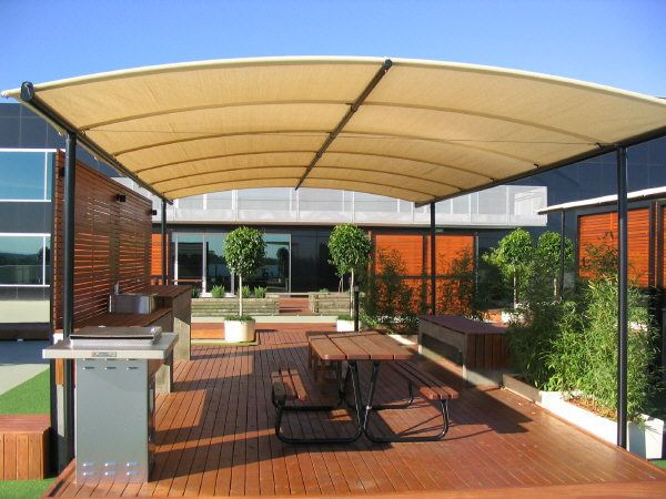 Deck Shade Structure Arm Awnings Blinds Outdoor Umbrellas Shade Sails Shade Structures Shade Structure Shade Sail Curved Pergola