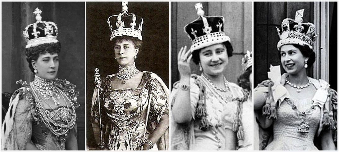 royal coronation photos Coronations, left to right