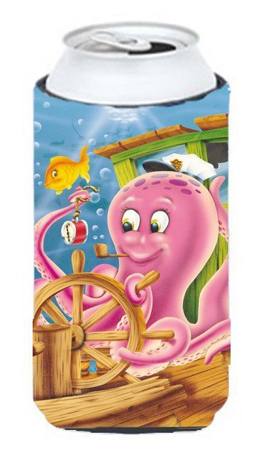 Captain Octopus Tall Boy Koozie Hugger APH0472TBC