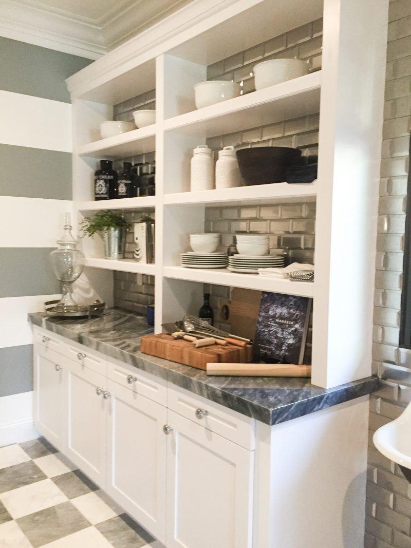 Open shelves and backsplash the same friday eye candy home tour