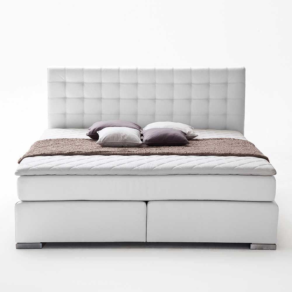 Amerikanisches Bett Rocono Bett, Boxspringbett weiß