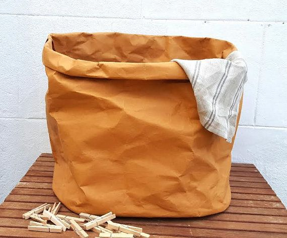 Xxl Washable Paper Hamper Waterproof Natural Laundry Bag Oval