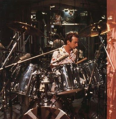 Deacon playing drums