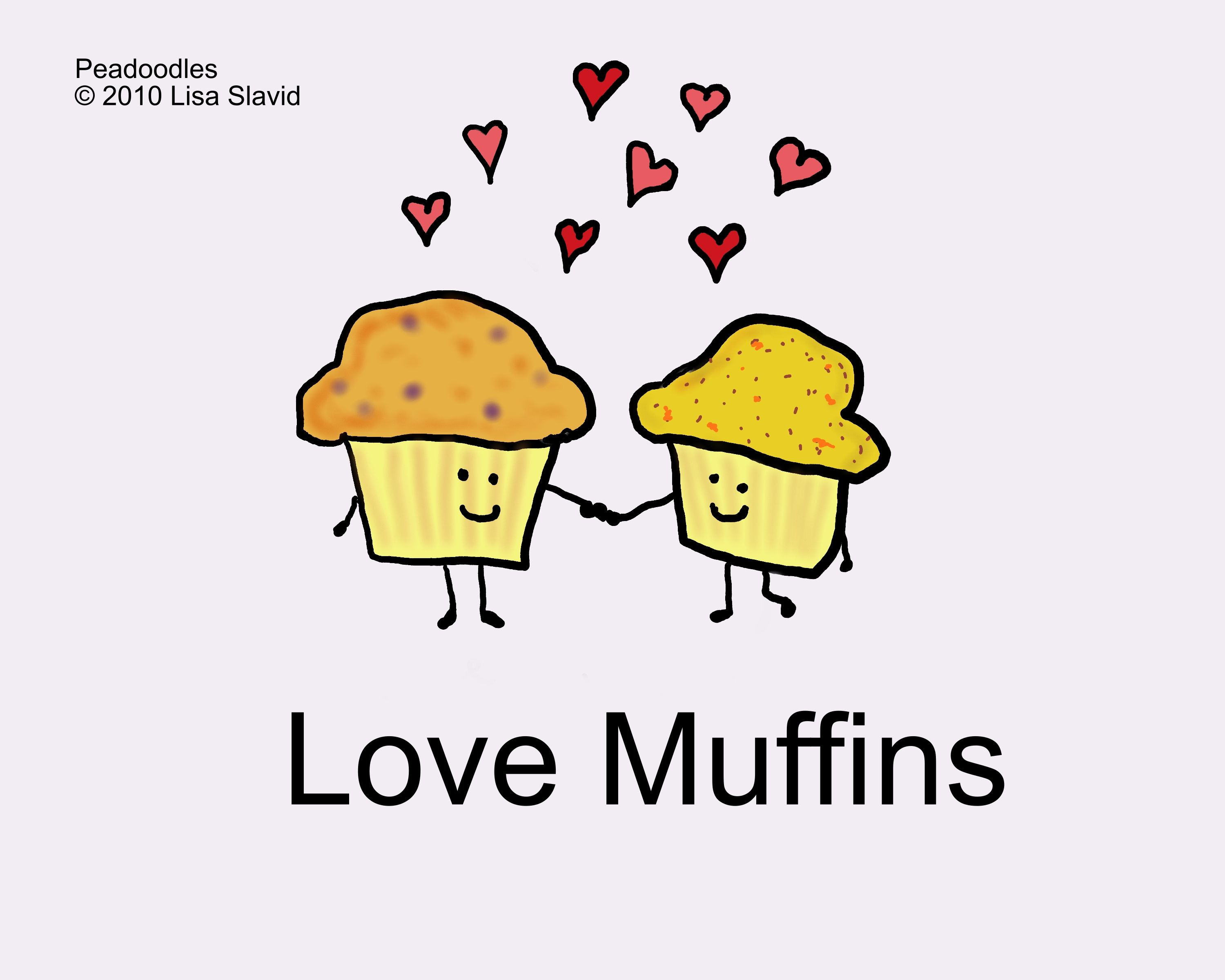 love, cute, funny, cooking, cartoon, muffins, valentine ...