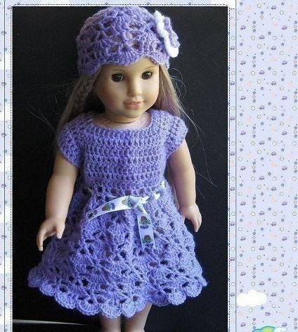 Pattern in PDF crocheted doll hat for American Girl, Gotz or similar ...