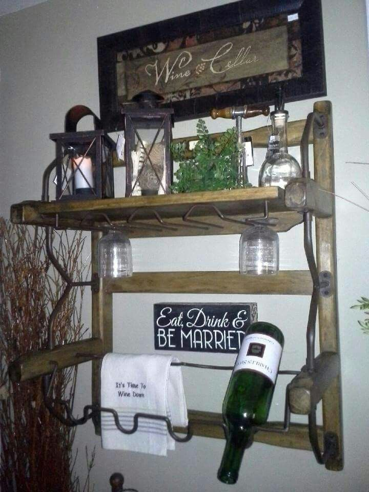 Awesome wine rack we have at Heart n Home!