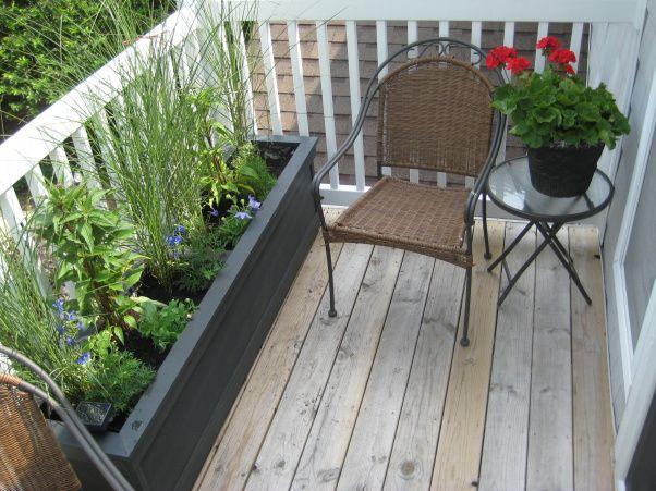 condo balcony planter small patio