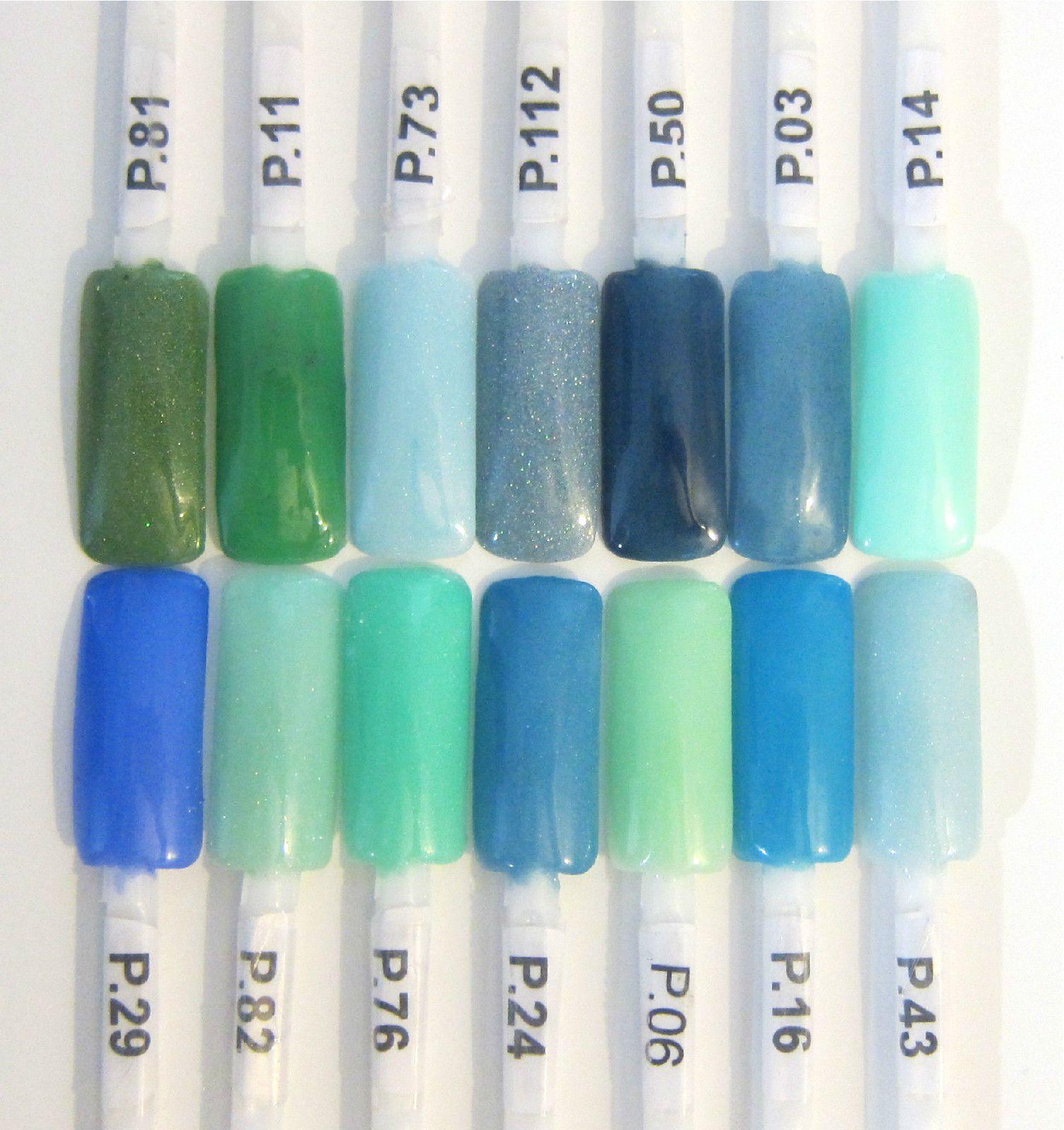 EZ Dip Color Chart: Blues