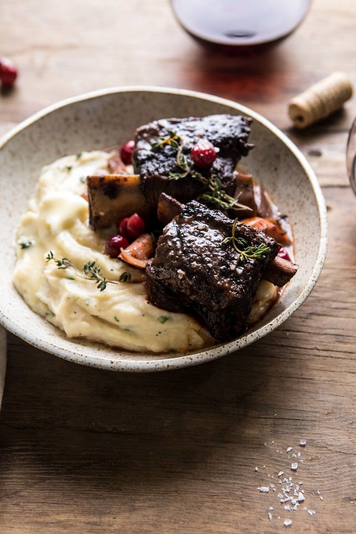 Red Wine Cranberry Braised Short Ribs Recipe Braised Short Ribs Short Ribs Food