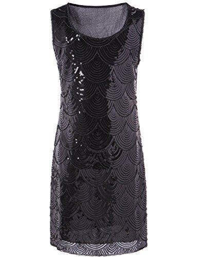 KAYAMIYA Women's Art Deco Glitter Sequin Beaded Flapper Gatsby Dress Black KAYAMIYA http://www.amazon.com/dp/B00PY09XN6/ref=cm_sw_r_pi_dp_iyTIwb0F6GCTS