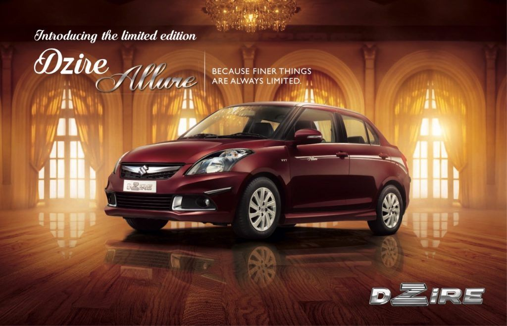Limited Edition Maruti Swift Dzire Allure Launched In India Suzuki Swift Car Bike News