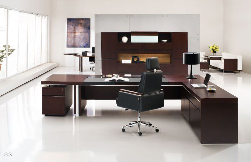Dise o oficina moderna office executive office desk for Diseno de oficinas modernas en casa