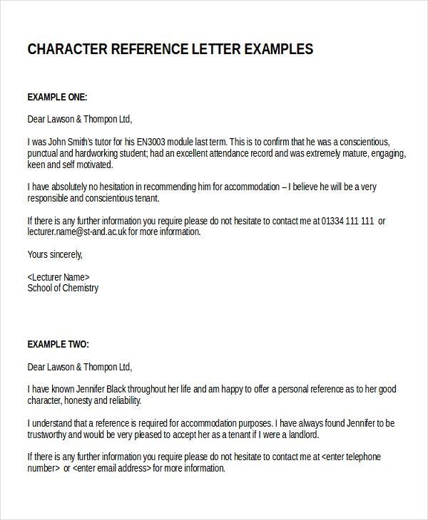 Image Result For Reference Letter For Tenant  Letter