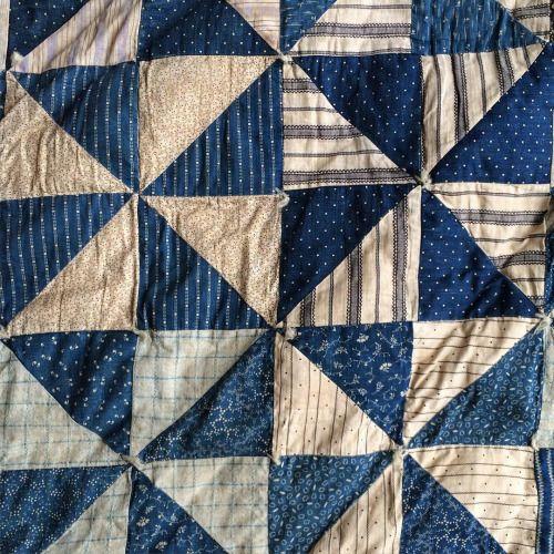 raggedythreads: Early Pinwheel #indigo #calico #quilt... Pattern & Textiles Pinterest ...