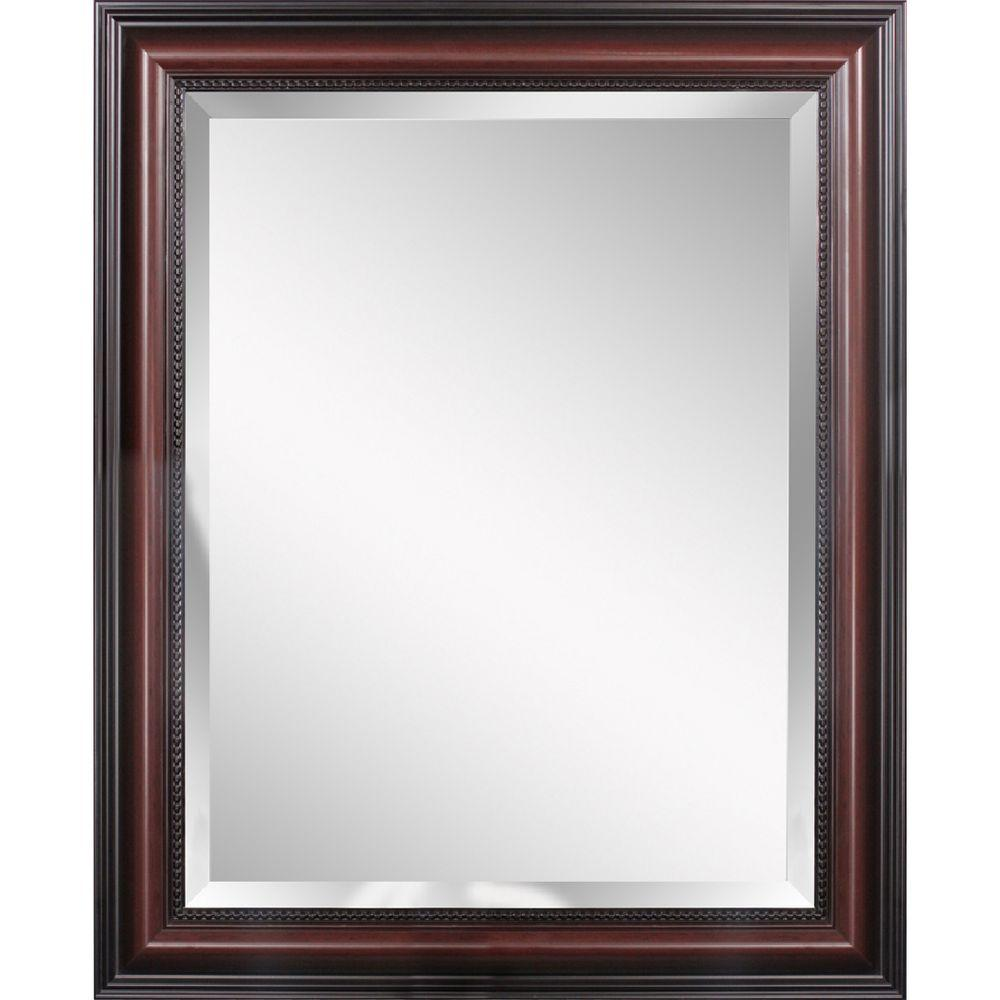 Deco Mirror Traditional 30 In X 42 Single Framed Wall Cherry