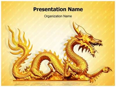 golden dragon powerpoint template is one of the best powerpoint, Powerpoint templates