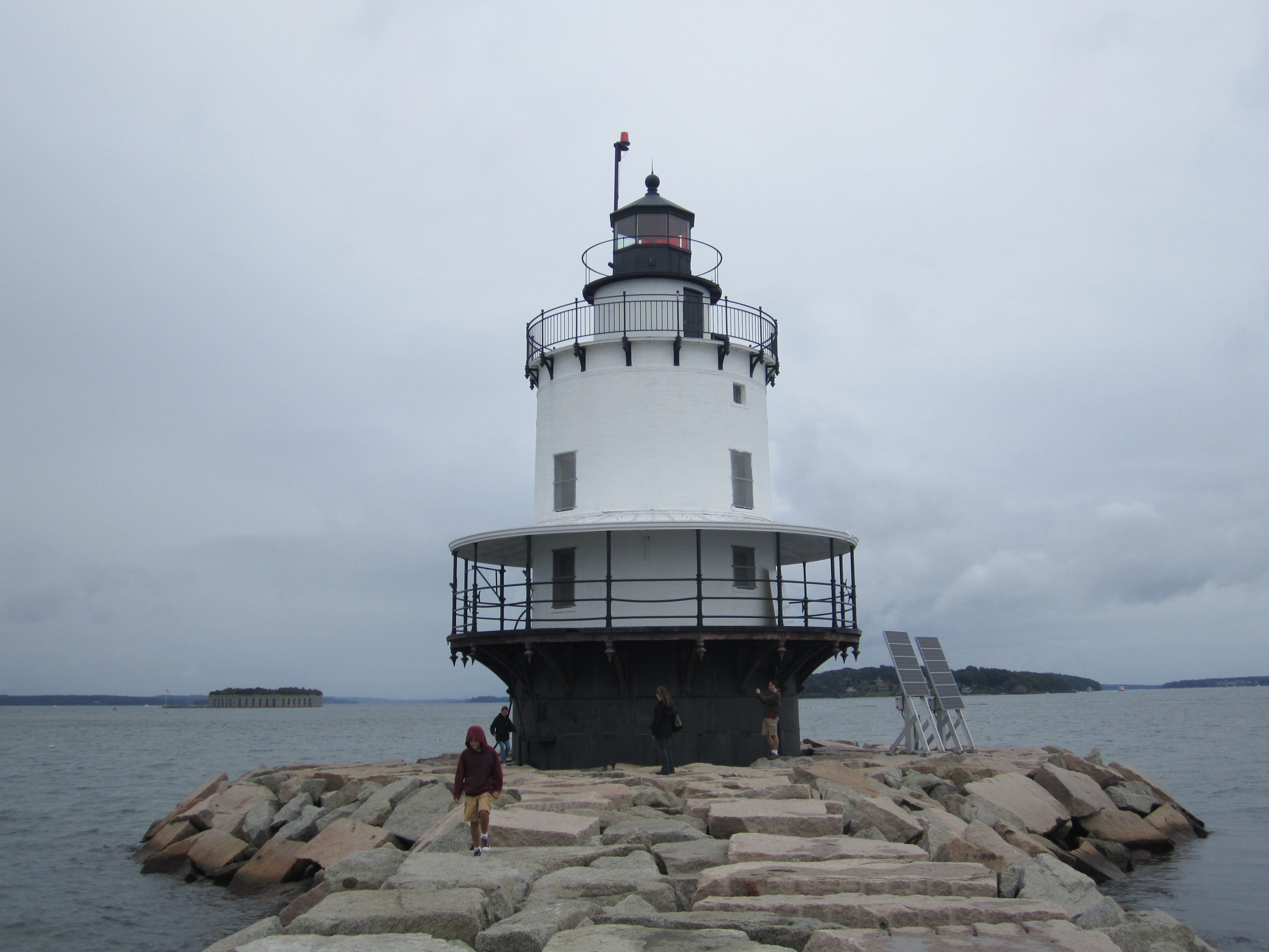 Spring Point Ledge Lighthouse in South Portland, Maine