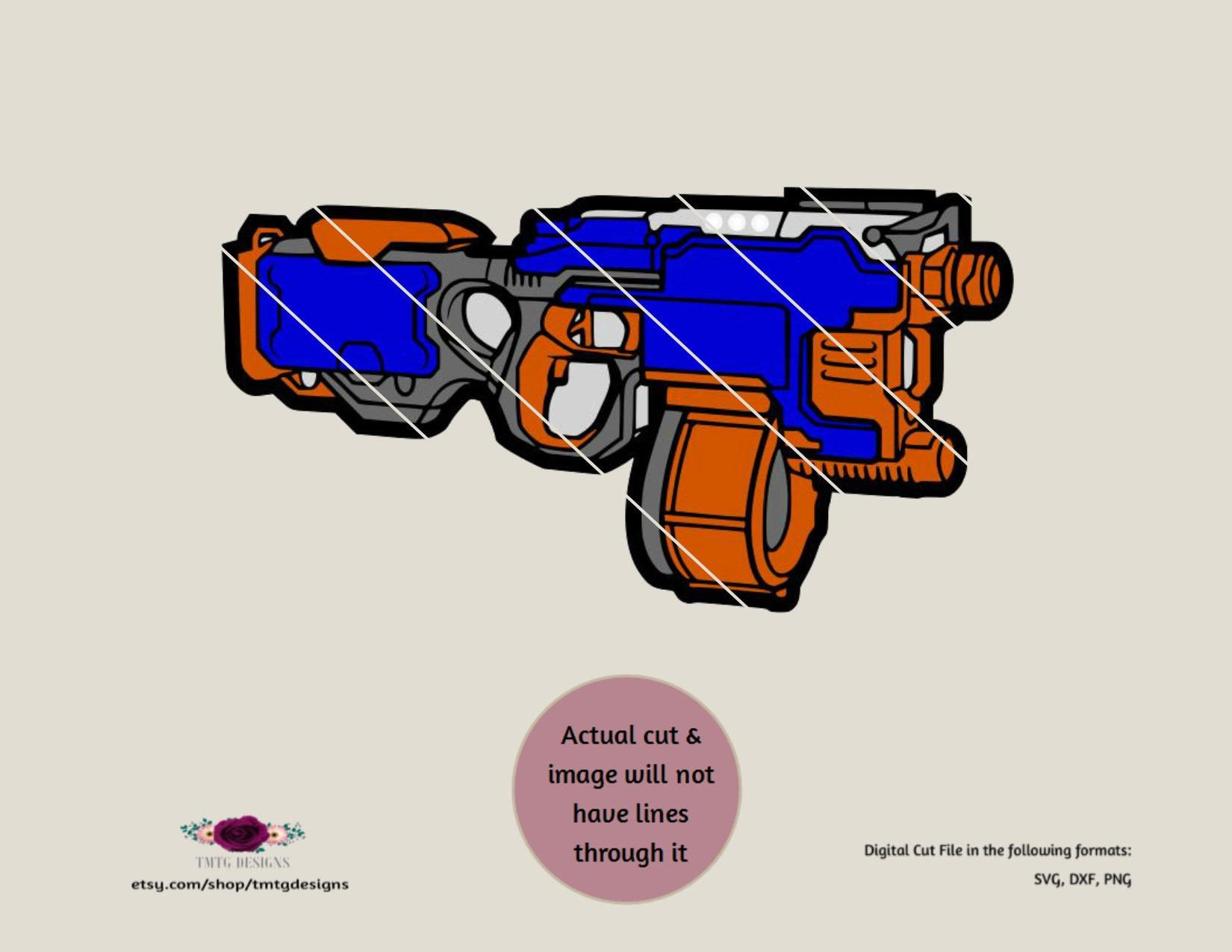 Nerf Gun SVG, Nerf SVG, svg, clipart, DFX, cricut download