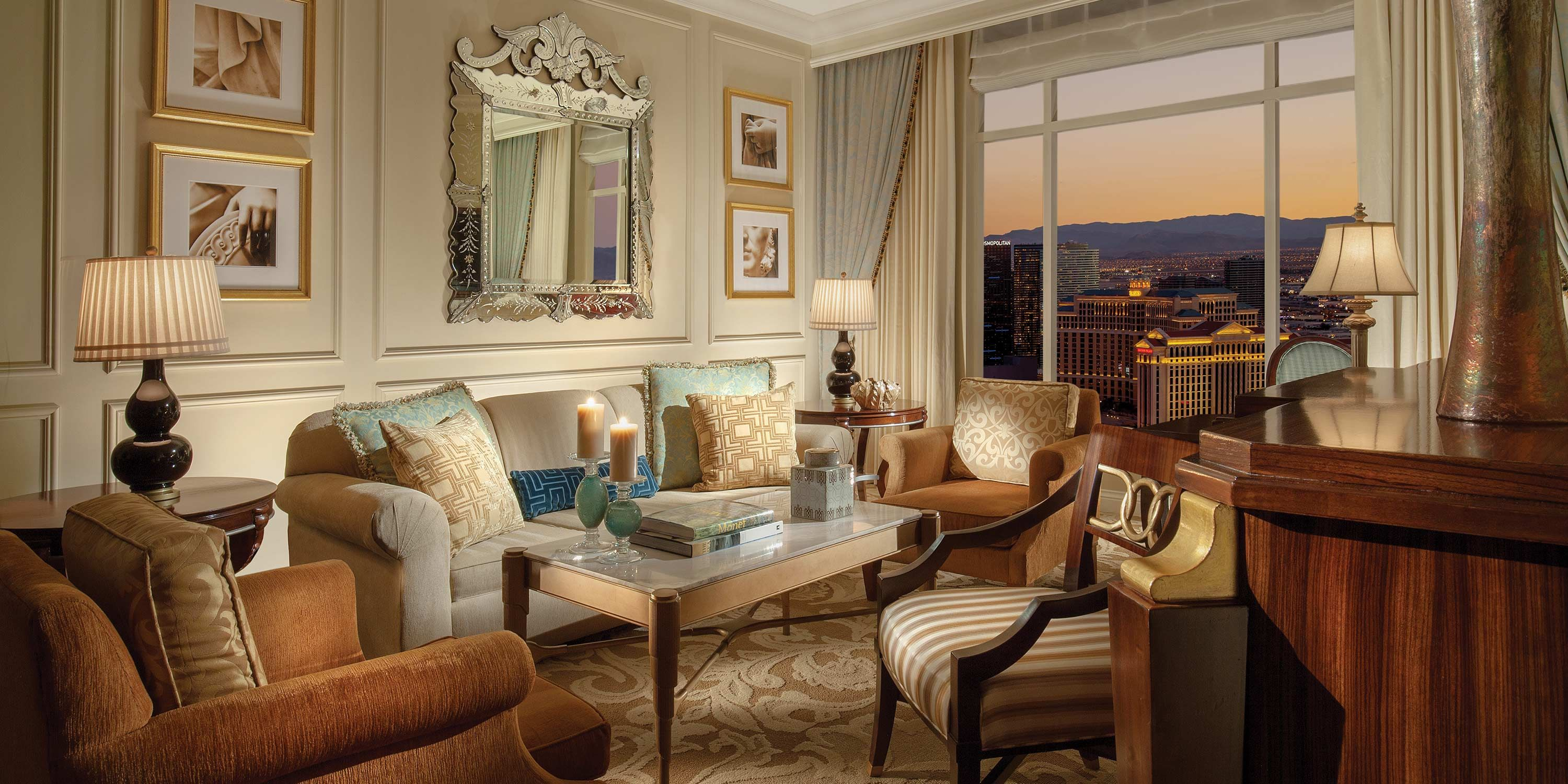 The Venetian Prima Suite Living Room Conference Hotel One