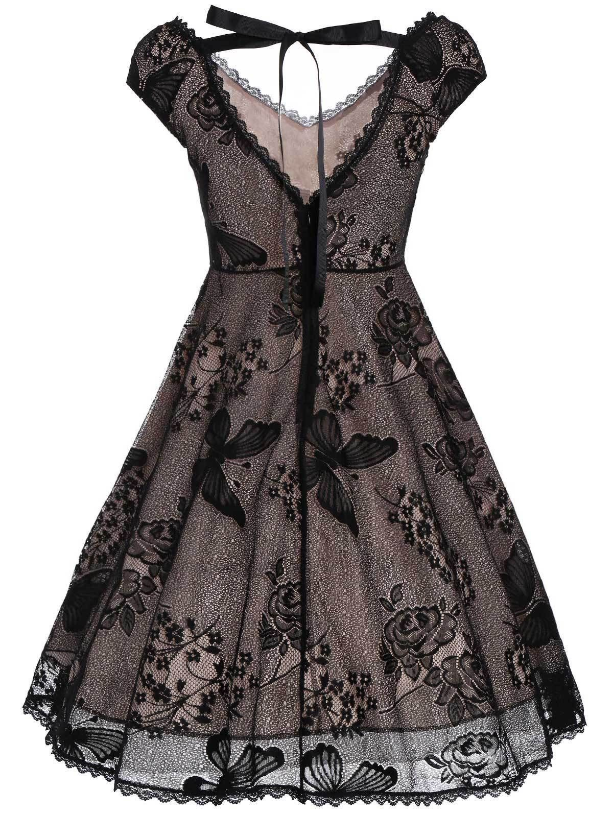 6e587e37b55 Buy Black Butterfly Lace Dress at Anarchicfashion.com for only ...