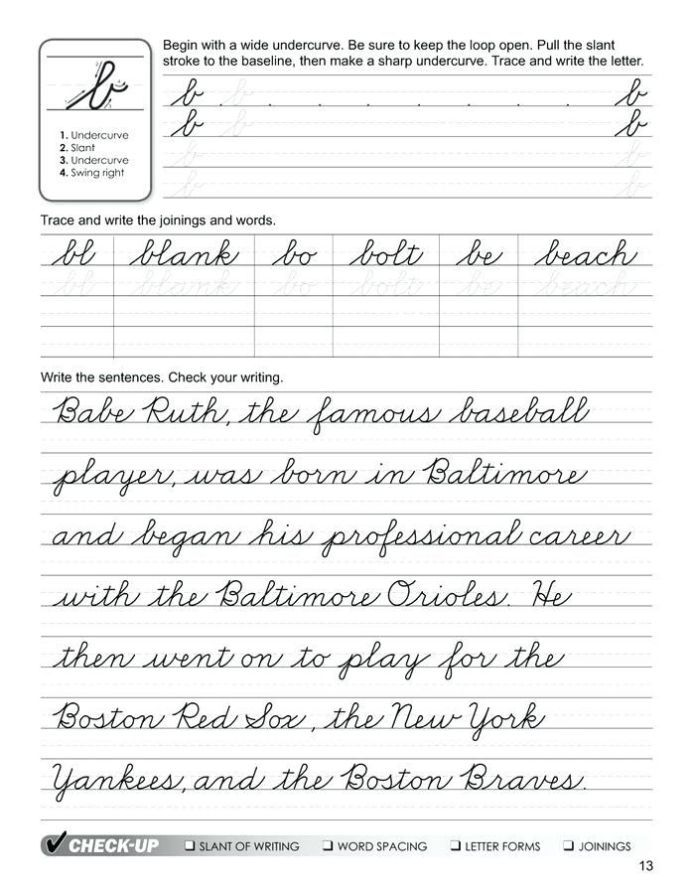 √ 29 Cursive Writing Worksheets for Adults Pdf ...