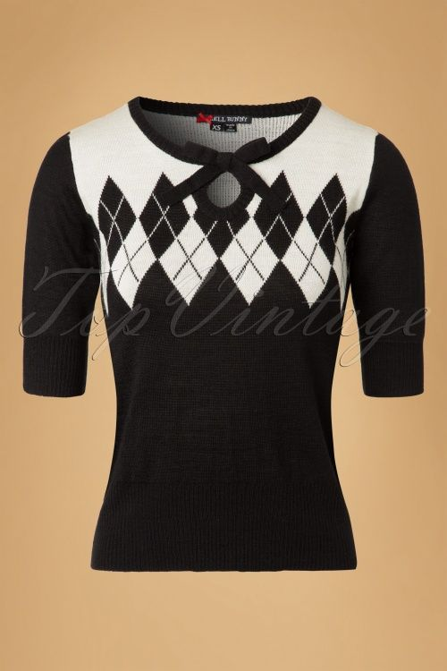 Bunny Chantal Black and Ivory Jumper 113 10 19571 20160927 0005W