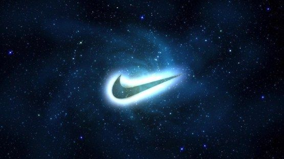 The Galaxy S4 Wallpaper I Just Pinned: This Is A Picture Of A Nike Sign And A Galaxy Background