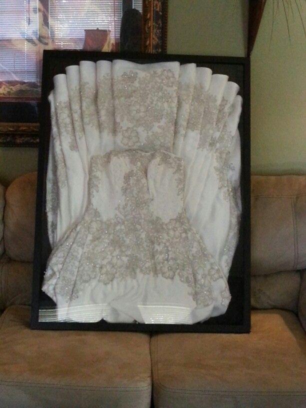 my framed wedding dress more