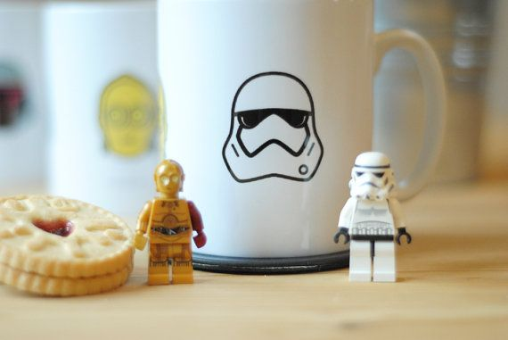Star Wars Inspired Mug Featuring Boba Fett C3po Stormtrooper Icons