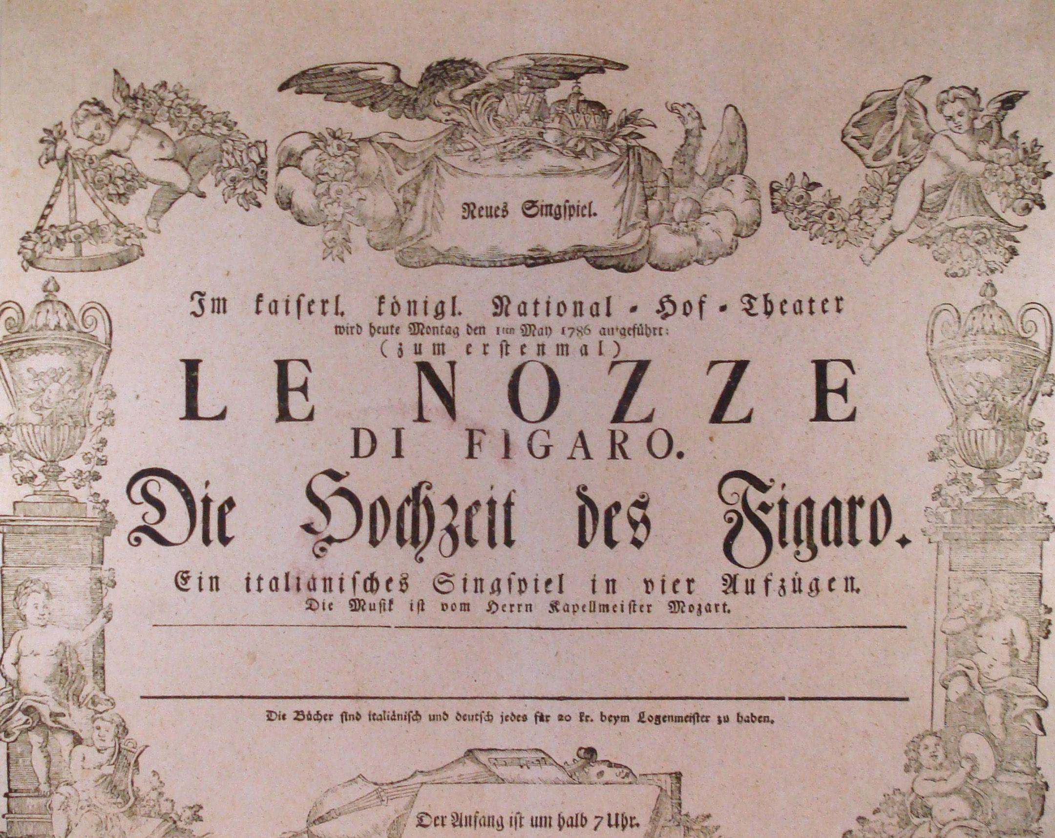 Le Nozze Di Figaro Original Poster Nozze Opera Teatro Dell Opera