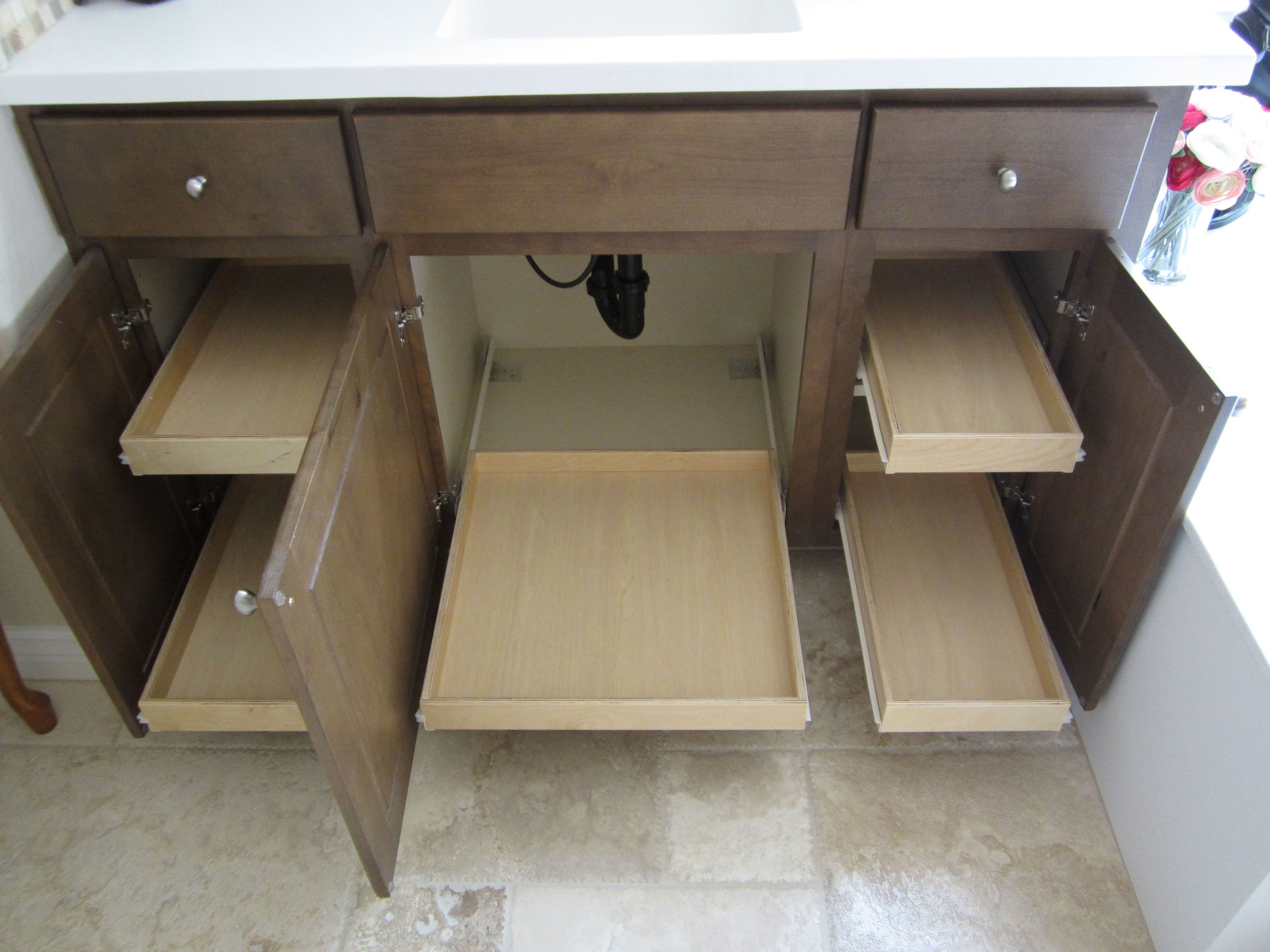 Pull Out Shelves For Kitchen And Pantry Made To Fit Bathroom Sink Diy Diy Kitchen Cupboards Under Bathroom Sinks