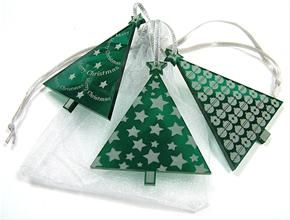 Acrylic Christmas Tree Decorations - Festive Trees from The Pink ...