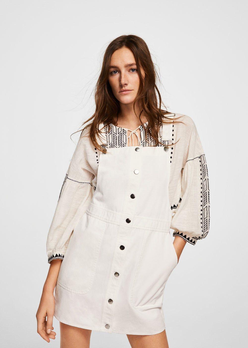 46a22964b0b9 Kısa koton jile elbise - Elbise - Kadın | mango | Pinafore dress ...