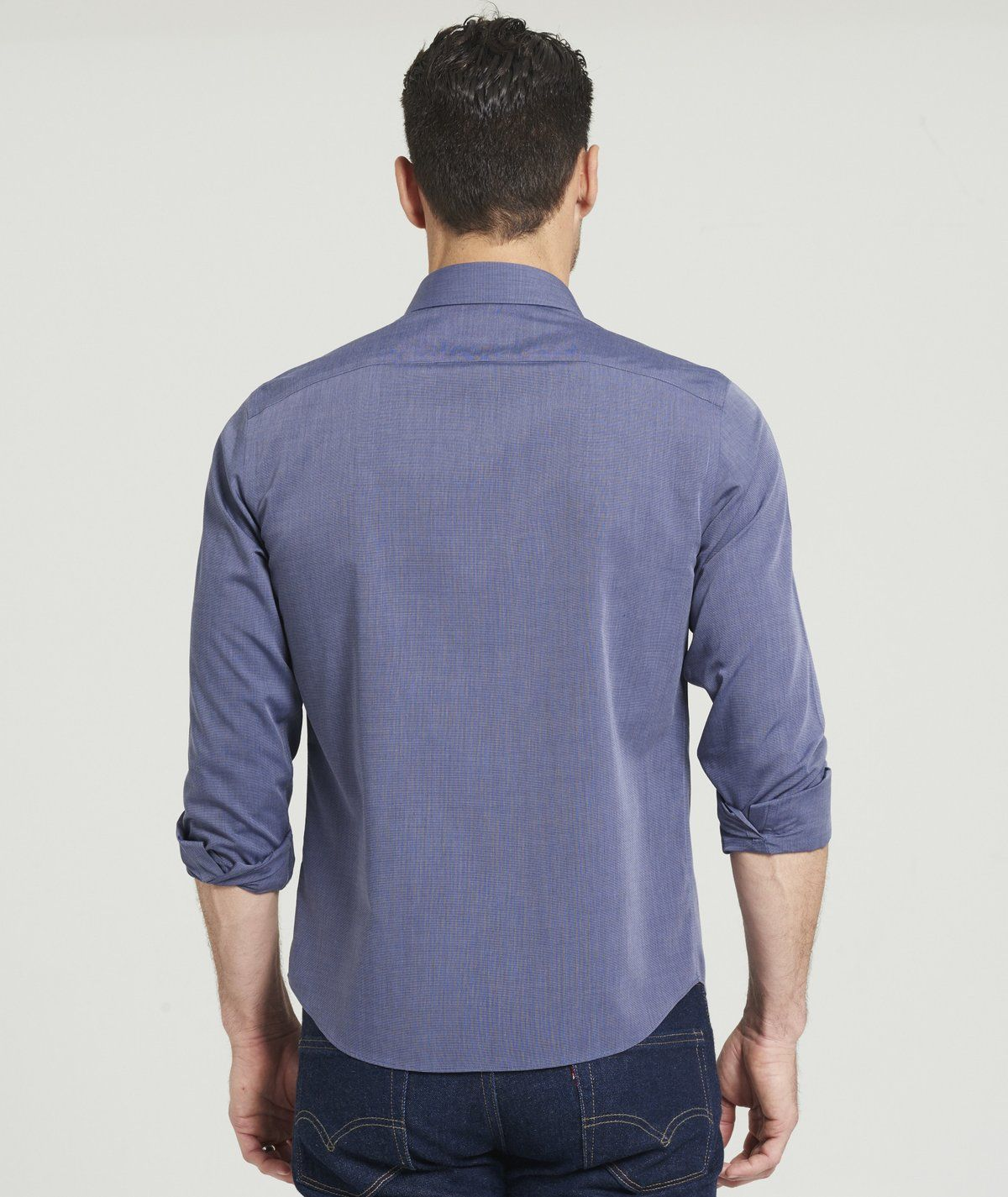 Shirt Melody with pleated front in dark blue