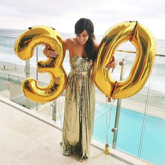 Number Balloons By Somethingborrowedwed On Etsy 30th Birthday